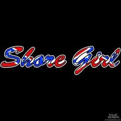 Shore Redneck Shore Girl Confederate Script Decal