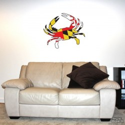 Shore Redneck MD Themed Crab Wall Decal