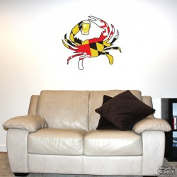 Shore Redneck MD Themed Beer Crab Wall Decal
