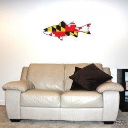 Shore Redneck MD Themed Rockfish Wall Decal