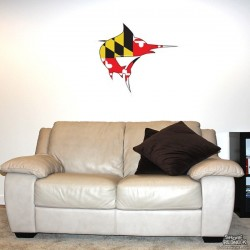 Shore Redneck MD Themed Marlin Wall Decal