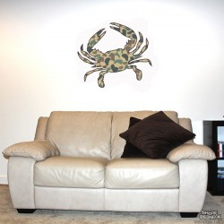 Shore Redneck Duck Camo Crab Wall Decal