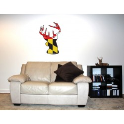 Shore Redneck MD Themed Buck Wall Decal