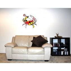 Shore Redneck MD Themed Lacrosse Crab Wall Decal