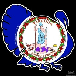 Virginia Flag Shore Redneck Turkey Decal