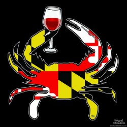 Shore Redneck MD Themed Wine Crab Decal