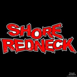 Shore Redneck Red Grunge Decal