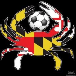 Shore Redneck MD Soccer Crab Decal