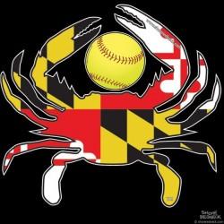 Shore Redneck MD Softball Crab Decal