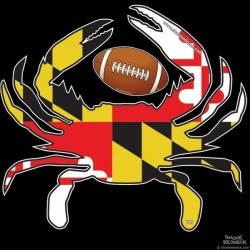 Shore Redneck MD Football Crab Decal
