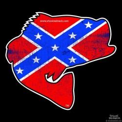 Shore Redneck Worn Dixie Jumpin' Bass Decal