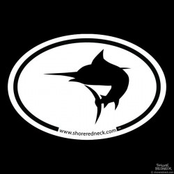 Shore Redneck Simple Marlin Oval Decal