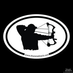 Shore Redneck Bowhunter Oval Decal