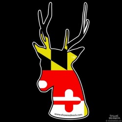 Shore Redneck Maryland Flag Sika Stag Decal