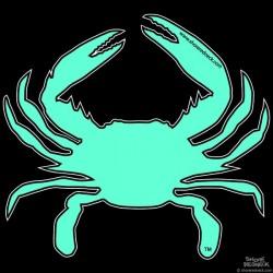 Shore Redneck Bahama Blue Crab Decal