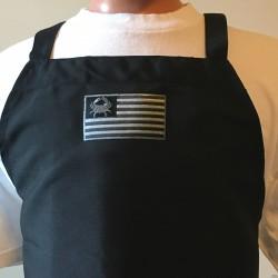Shore Redneck USA Blackout Crab Flag Cooking Bib Apron