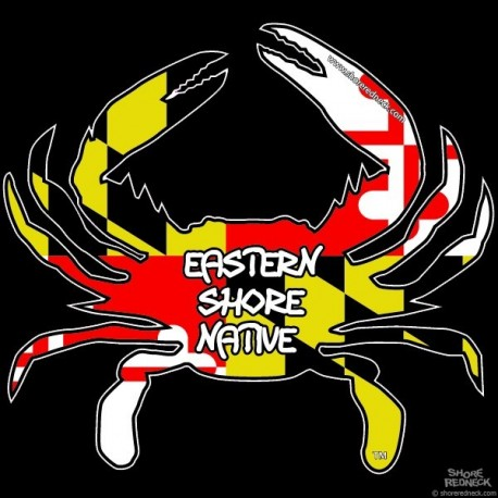 Shore Redneck MD Themed Eastern Shore Native Crab Decal