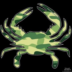 Shore Redneck Hunter Camo Shore Redneck  Crab Decal