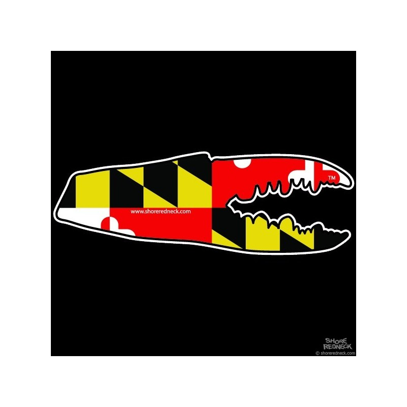 Maryland Flag Crab Decal Maryland Flag Crab Decal
