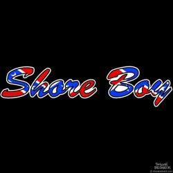 Shore Redneck Shore Boy Confederate Script Decal