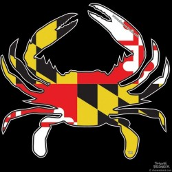 Shore Redneck MD Themed Crab Decal