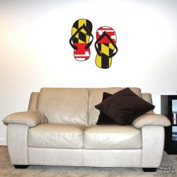 Shore Redneck MD Themed Flip Flops Wall Decal
