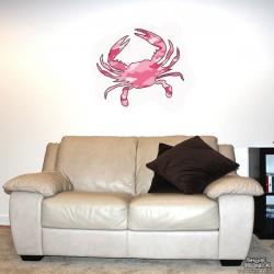 Shore Redneck Pink Camo Crab Wall Decal
