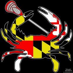 Shore Redneck Maryland Lacrosse Crab Decal