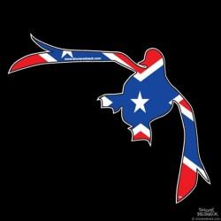Shore Redneck Dixie Flying Duck Decal
