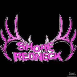 Shore Redneck Pink Grunge Rack Decal