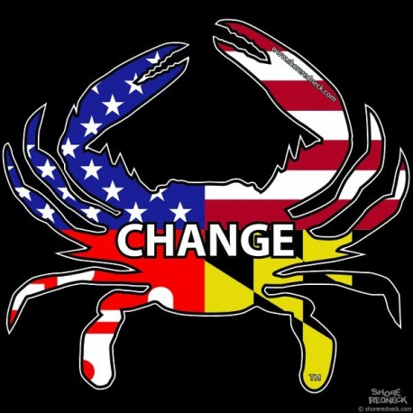 Shore Redneck USA-Maryland Americaland Change Crab Decal