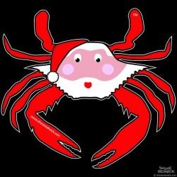 Shore Redneck Seasonal Santa Crab Decal