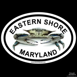 Shore Redneck Eastern Shore Live Crab Oval Decal