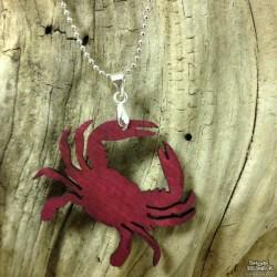 Shore Redneck Red Crab Pendant Necklace
