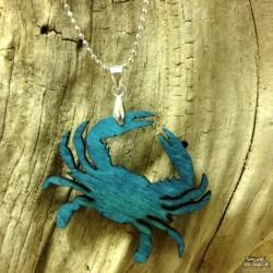 Shore Redneck Turquoise Crab Pendant Necklace