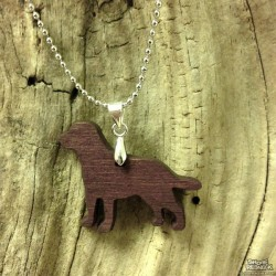 Shore Redneck Chocolate Lab Pendant Necklace