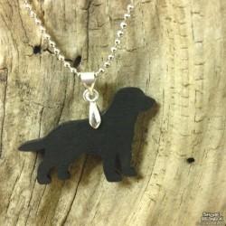 Shore Redneck Black Lab Pendant Necklace