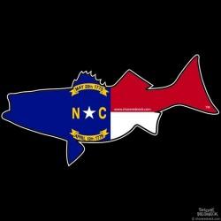 Shore Redneck North Carolina Striper Pig Decal