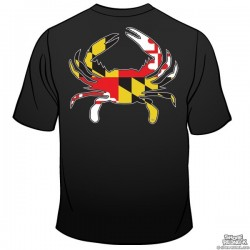 Shore Redneck MD Flag Crab T