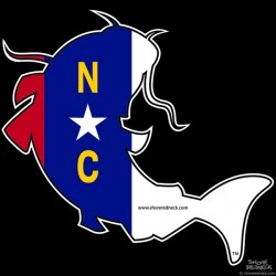 Shore Redneck North Carolina Catfish Decal