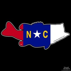 Shore Redneck North Carolina Largemouth Decal