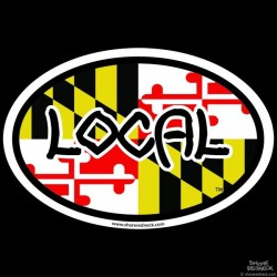 Shore Redneck Local MD Oval Decal