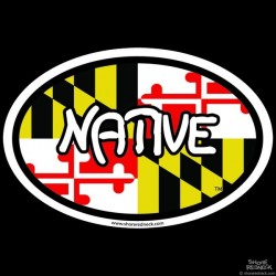 Shore Redneck Native MD Oval Decal