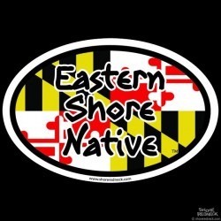 Shore Redneck Eastern Shore Native MD Oval Decal
