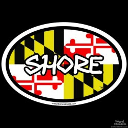 Shore Redneck Shore MD Oval Decal