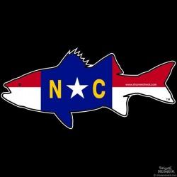 Shore Redneck North Carolina Rockfish Striper  Decal