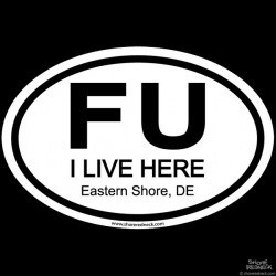 Shore Redneck FU ESDE Oval Decal