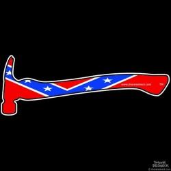 Shore Redneck Dixie Hammer Decal