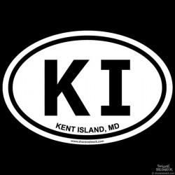 Shore Redneck Kent Island MD Oval Decal
