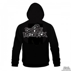 Shore Redneck Black and White Lab on Top Hoodie